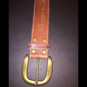 Abercrombie Brown Leather Belt Size L/XL